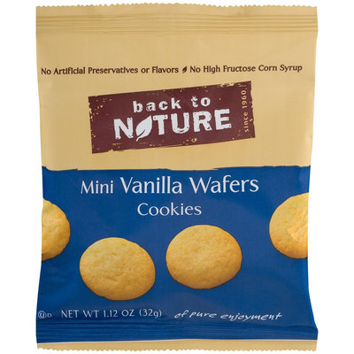 Back To Nature Mini Vanilla Wafer Cookie, 0.12 oz, 6 ct, 2 pk