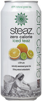 Steaz Zero Citrus Iced Tea, 16 oz, 12 pk