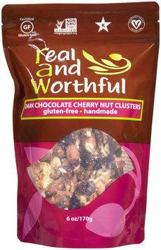 R.a.w. Real & Wonderful Raw Real and Wonderful Nut Clusters Handmade Gluten Free Dark Chocolate Cherry - 6 oz - Vegan