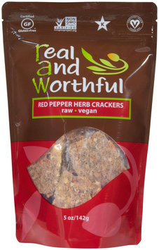 R.a.w. Real & Wonderful Raw Real and Wonderful Herb Crackers Gluten Free Red Pepper - 5 oz - Vegan