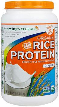 Growing Naturals Organic Rice Protein Original 2 lbs
