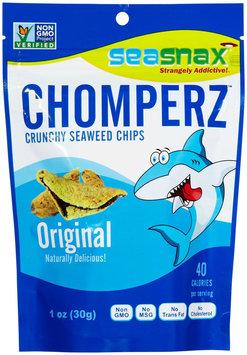 SeaSnax Chomperz Crunchy Seaweed Chips Original 1 oz