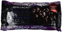 Pasha De Cartier Pascha Chocolate Baking Chip 85 Percent Cacao 8.75 Oz Case Of 6