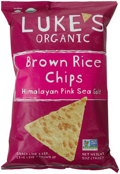 Luke's Organic Brown Rice Chips Himalayan Pink Sea Salt 5 oz - Vegan