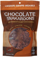 Laughing Giraffe Organic Snakaroons, Chocolate