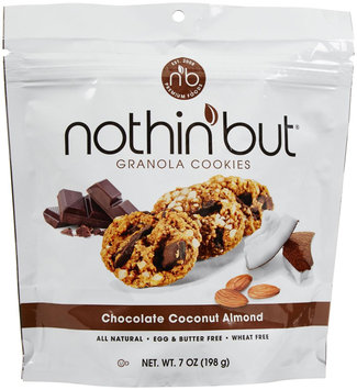 Nothin' But All Natural Granola Cookies Chocolate Coconut Almond 7 oz