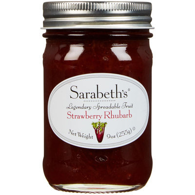 Sarabeth's Sarabeth Spreadable Fruit, Strawberry Rhubarb, 9 oz, - Pack of 6
