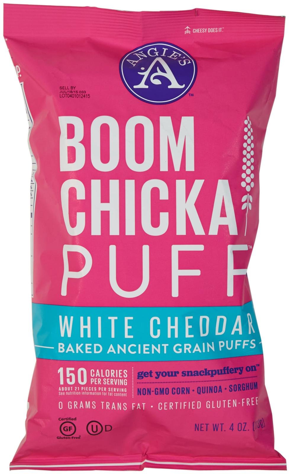 Angies Artisan Treats BoomChickaPuff White Cheddar 4 oz