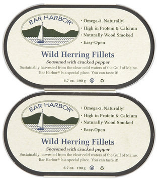 Bar Harbor Wild Herring Fillets with Cracked Pepper - 6.7 oz