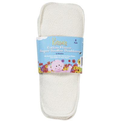 Kissaluvs Kissa's Cotton Fleece Super Soaker Doublers- Unbleached 6 pk