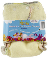 Kissa's By Kissaluvs Kissa's Cotton Fleece Fitted Diaper - Lemon Yellow