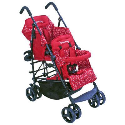 Kinderwagon Hop Tandem Stroller - Red - 1 ct.
