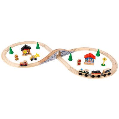 KidKraft Figure 8 Wood Train Kids Play Set