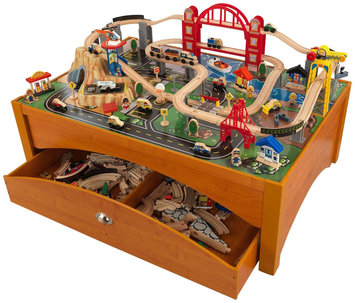 KidKraft Metropolis Train Set & Table Honey - 1 ct.