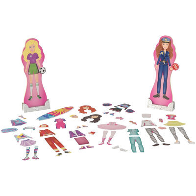 KidKraft Magnetic Dress Up Dolls - Activities & Professions