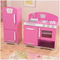 KidKraft 2-Piece Retro Kitchen and Refrigerator - Bubblegum Bubblegum