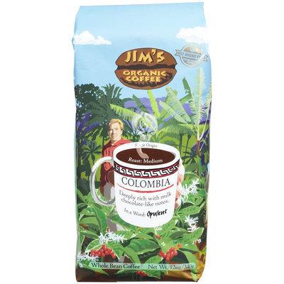 Jim's Organic Coffee Organic Colombian Coffee Bean, 12 oz
