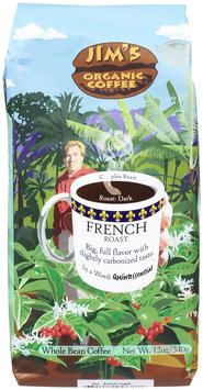 Jim's Organic Coffee Whole Bean Coffee French Roast - 12 oz