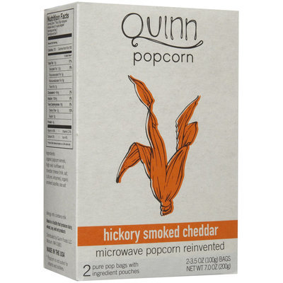 Quinn Foods Microwave Popcorn Hickory Smoked Cheddar 2 Bags