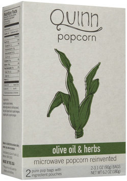 Quinn Foods Microwave Popcorn Olive Oil & Herbs 2 Bags