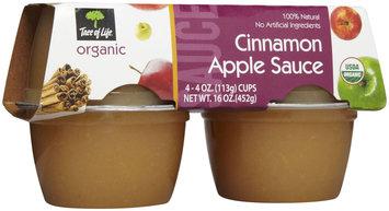 Tree of Life Organic Applesauce, Cinnamon - 1 ct.