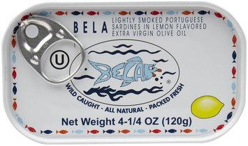 Bela-Olhao Sardines Sardines In Lemon Juice, 4.25 oz