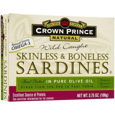 Crown Prince Skinless & Boneless Sardines, In Oil, 3.75 oz