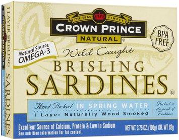 Crown Prince Brisling Sardines, In Water, 3.75 oz