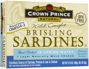 Crown Prince Brisling Sardines, In Water, 3.75 oz