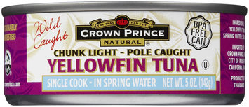 Crown Prince Yellow Fin Tuna, In Water, 5 oz