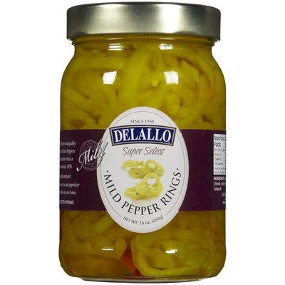 Delallo Mild Pepper Rings, 16 oz