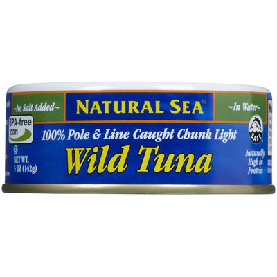 Natural Sea Wild Tuna in Water No Salt Added - 5 oz