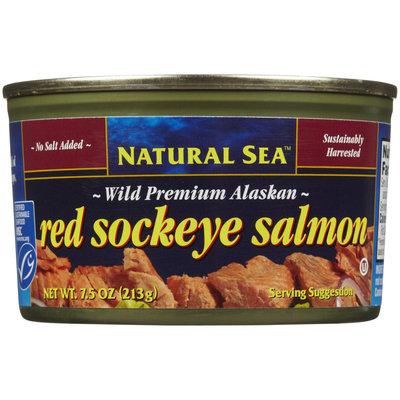 Natural Sea Red Salmon, No Salt, 7.5 oz