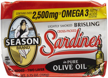 Season Product Crosspack Sardines, 3.75 oz