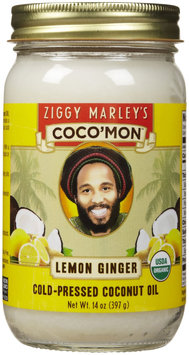 Ziggy Marley's Coco'Mon Coconut Oil Organic Lemon Ginger 14 oz