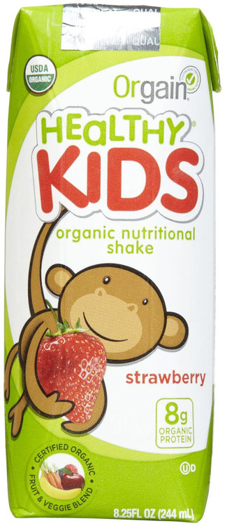 Orgain - Healthy Kids Organic Ready To Drink Meal Replacement Strawberry - 12 Pack