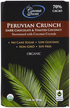 Coconut Secret Peruvian Crunch Dark Chocolate & Toasted Coconut Organic - 2.25 oz
