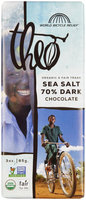 Theo Chocolate Organic 70% Dark Chocolate Sea Salt 3 oz
