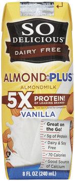 So Delicious - Dairy Free Almond Plus Vanilla 4 x 8 oz. Cartons