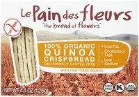 Le Pain des fleurs Le Pain Crispbread Quinoa Gluten Free - 4.41 oz