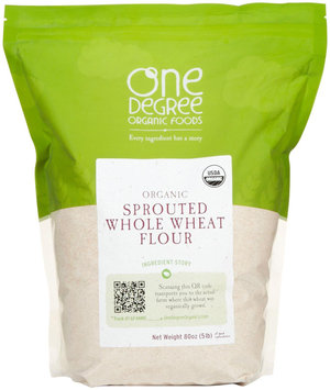 One Degree Flour 95% Organic Sprouted Whole Wheat 80 Oz, Pack of 4