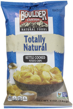 Boulder Canyon Natural Foods Gluten Free Totally Natural Kettle Chips, 5 oz