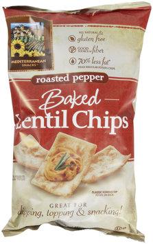 Mediterranean Snacks Roasted Pepper Baked Lentil Chips, 4.5 oz