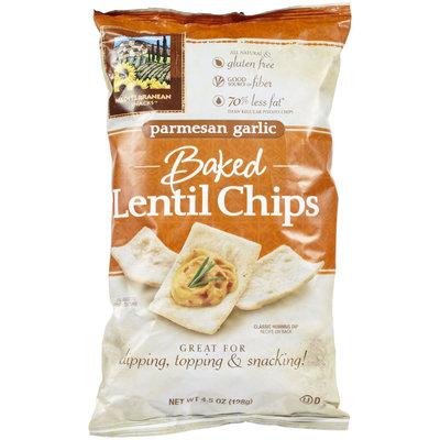 Mediterranean Snacks Parmesan Garlic Lentil Chips, 4.5 oz