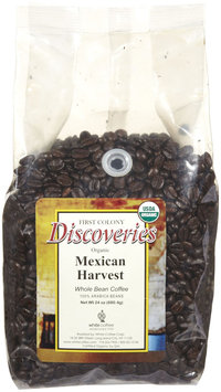 First Colony Organic Mexican Harvest Whole Bean Coffee, 24 oz