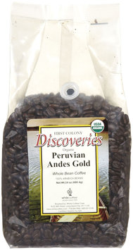 First Colony Organic Peruvian Andes Gold Whole Bean Coffee, 24 oz