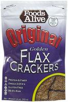 Foods Alive Regular Golden Flax Crackers, 4 oz - 1 ct.