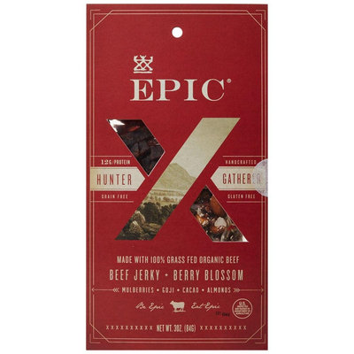 Epic Bar Epic - Hunter Gatherer Beef Jerky and Berry Blossom - 3 oz.