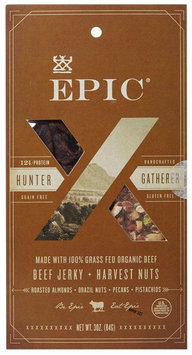 Epic Nutrition Grass Fed Beef Jerky Harvest Nuts 3 oz