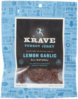 Krave Lemon Garlic Turkey Jerky, 3.25 oz
